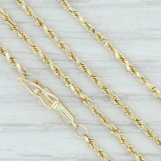 Other Beaded Rope Chain Necklace - 10k Yellow Gold 24