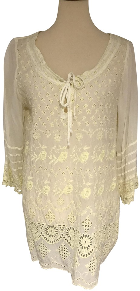 3af9bc1c655 Johnny Was Light Yellow Tunic Size 10 (M) - Tradesy