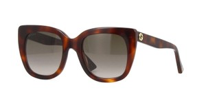 Gucci Gucci GG0163S 002 Havana Cat Eye Sunglasses Brown Gradient Len