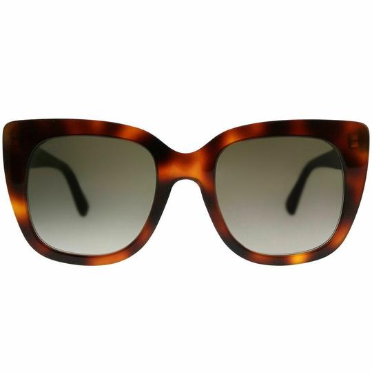 Gucci Gucci GG0163S 002 Havana Cat Eye Sunglasses Brown Gradient Len Image 1