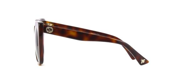 Gucci Gucci GG0163S 002 Havana Cat Eye Sunglasses Brown Gradient Len Image 2