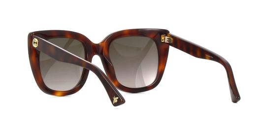 Gucci Gucci GG0163S 002 Havana Cat Eye Sunglasses Brown Gradient Len Image 3