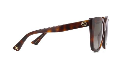 Gucci Gucci GG0163S 002 Havana Cat Eye Sunglasses Brown Gradient Len Image 4
