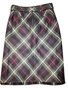 J.Crew J Crew Wool Green Plaid Skirt Navy