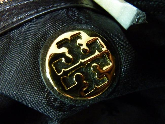 Tory Burch Thea Chain Slouchy Black Pebbled Leather Tote Tory Burch Thea Chain Slouchy Black Pebbled Leather Tote Image 11
