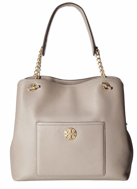 Item - Chelsea Small Slouchy Gray Heron Leather Tote