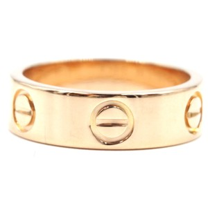 Cartier 18K gold Love wide band ring Size 49 5.5mm wide