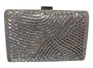 Silver and Rhinestone Clutch Bridal Handbag