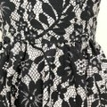Dolce&Gabbana Cotton Floral Lace Sleeveless Fitted Bodice Dress Image 7