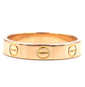 Cartier 18K gold Love wedding band ring size 51 3.5mm wide