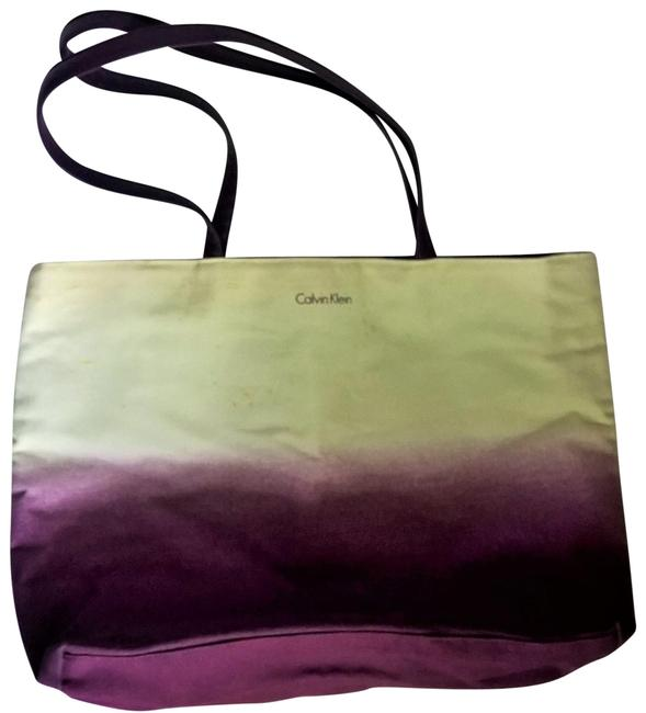 Item - White and Purple Canvas Tote