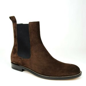 Gucci Dark Brown Suede Pull Up Chelsea Boot with Elastic Sides 10.5/Us 11.5 256346 2145 Shoes