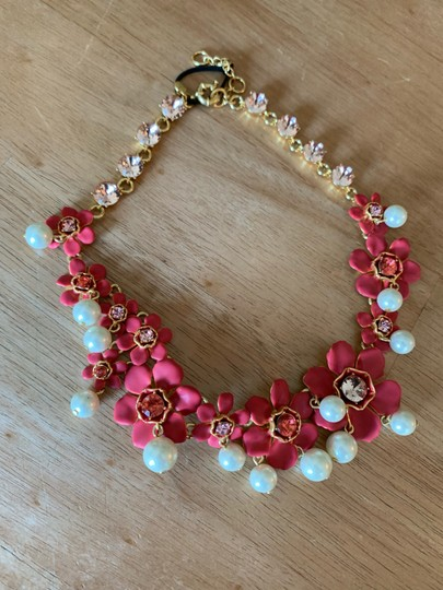 J.Crew J Crew Pearl and crystal floral statement necklace new Image 1