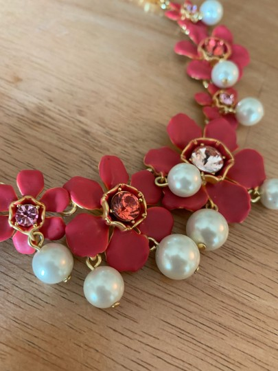 J.Crew J Crew Pearl and crystal floral statement necklace new Image 2