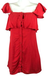 Privacy Please short dress Red Mini Off Shoulder on Tradesy