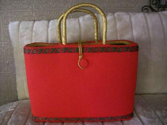 Mim Crawford Tote in Red