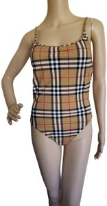 Burberry Brown multicolor Burberry Nova Check one-piece swimsuit
