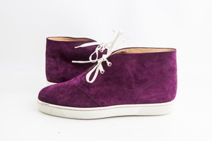 Christian Louboutin Purple Nono Flat Suede Sneakers Shoes