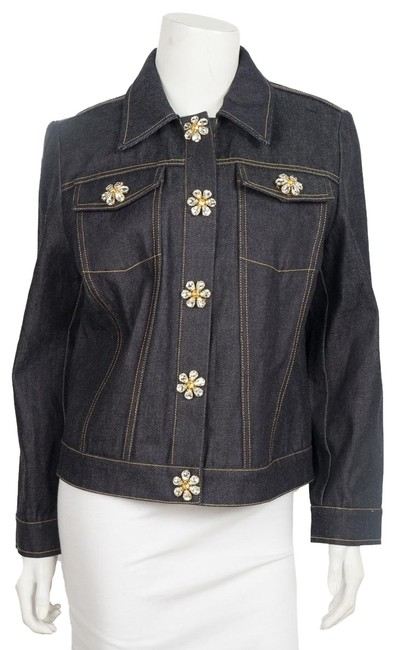 Preload https://img-static.tradesy.com/item/25406452/michael-kors-denim-embellished-jacket-size-12-l-0-1-650-650.jpg