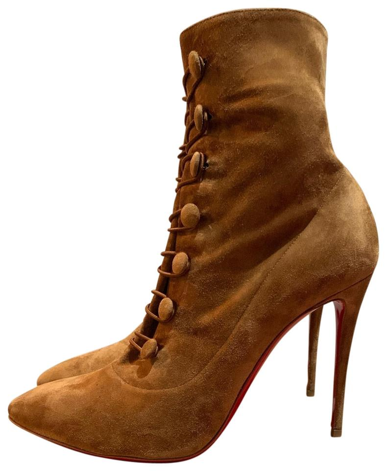 0cf2fcf1705 Christian Louboutin Brown French Tutu 100 Veau Velour Boots/Booties Size US  8.5 Regular (M, B) 39% off retail
