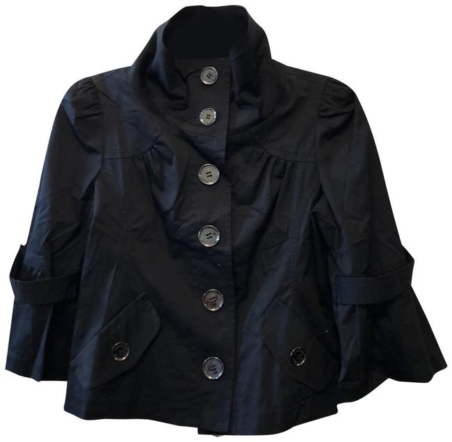 Item - Black Cropped Button-up Jacket Size 4 (S)