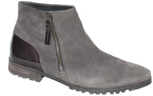 Paul Green Suede Zipper Ankle Gray Boots
