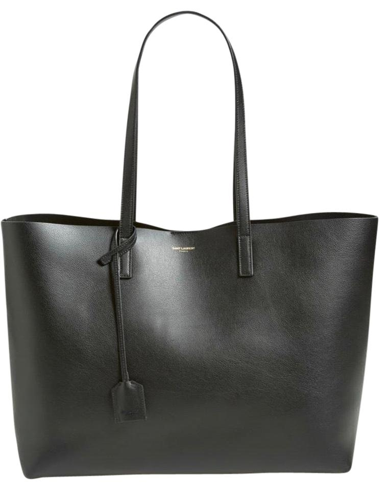 62059487a4b Saint Laurent Shopping Black Leather Tote - Tradesy