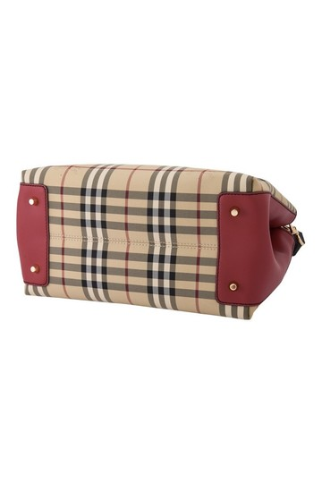 Burberry London Check Ballingdon Horseferry Tote in Honey / Parade Red Image 2