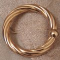 Italian 14kt Circle Vintage Friendship Brooch