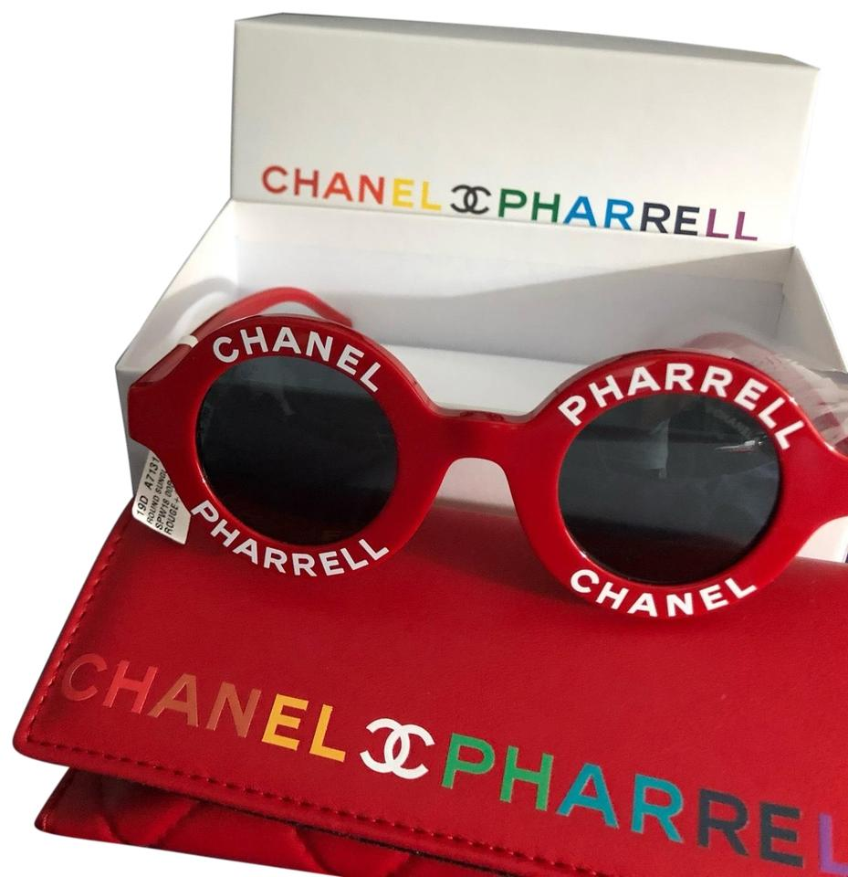 prix le plus bas d055d 7cde7 Chanel Red Pharrell Williams Round Sunglasses