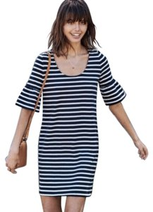 Amour Vert short dress navy and white on Tradesy