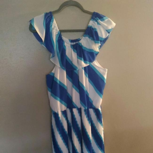Item - Blue and White ? Mid-length Casual Maxi Dress Size 12 (L)