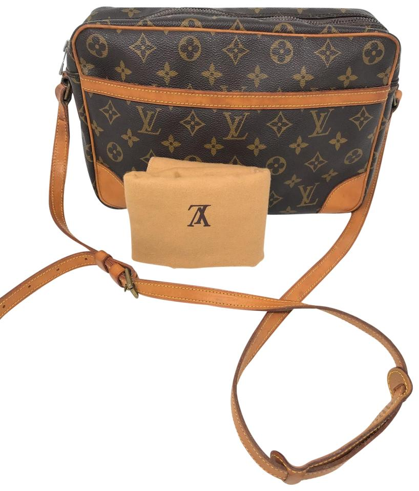 f652a34d6f496 Louis Vuitton Trocadero 30 Monogram Cluch Handbag Cosmetics Brown ...