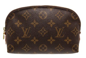 Louis Vuitton Louis Vuitton Monogram Canvas Leather Cosmetic Case PM Pouch