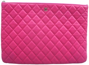 9f07cec034d2 Chanel Quilted O-case Large Hot Pink Clutch