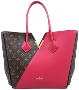 Louis Vuitton Lv Kimono Mm Monogram Red Tote in Brown&red