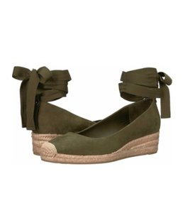 Tory Burch Sage Green Wedges