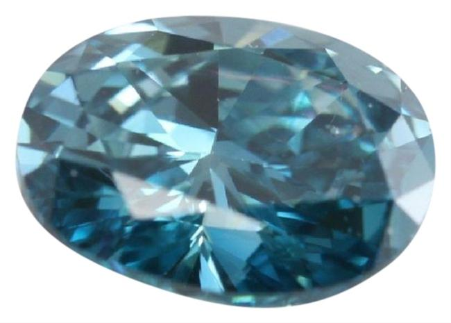 Item - Blue Oval Loose Diamond 1 Ct Irradiated Si1 Enhanced C6003039