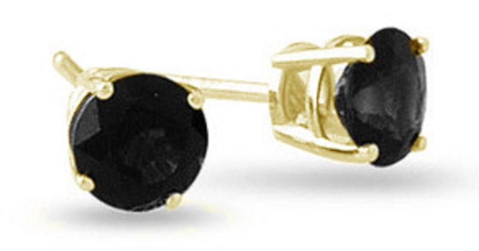 Les Of Gold 0 37 Carat Round Black Diamond Stud In 14k Yellow Earrings 31 Off Retail