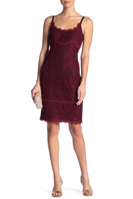 Item - Oxblood Olivia Rose Lace Mid-length Night Out Dress Size 12 (L)