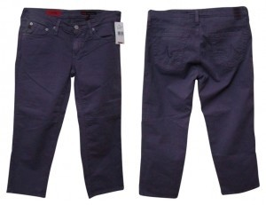 AG Adriano Goldschmied Capri/Cropped Denim-Colored