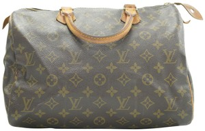 Louis Vuitton Speedy Purse Lv 30 Tote in Brown