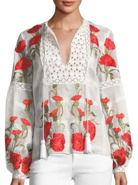 Preload https://img-static.tradesy.com/item/25409098/alexis-white-and-red-new-dorit-blouse-size-2-xs-0-1-650-650.jpg