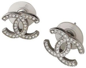 Chanel Chanel Classic CC Stud Earrings