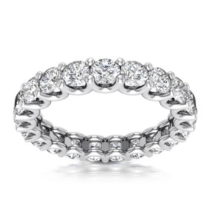Natural Diamonds of NYC White 3.00 Ct Ladies Round Cut Eternity Ring In 14 Kt Women's Wedding Band