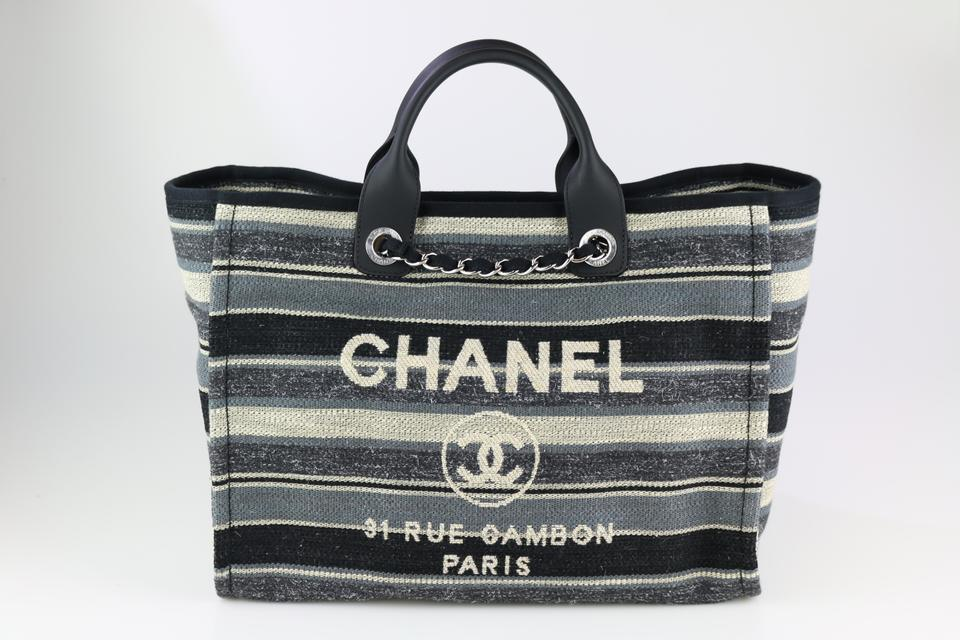 c41aac72db71 Chanel Deauville 18a 18a Deauville Striped Deauville Medium Deauville Tote  in Multicolor Image 0 ...