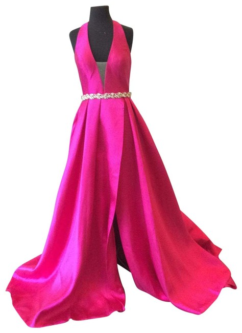 Item - Fuchsia 63652a Long Formal Dress Size 8 (M)