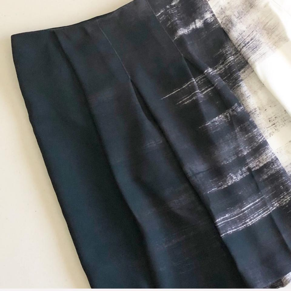 90d39ee7cf1 Vince Gray/Black/White Dry Brush Pleated A-line Skirt Size 12 (L, 32, 33) -  Tradesy