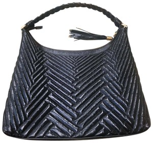 da62797ff9 Cole Haan Patent Quilted Tassel Hobo Large Shoulder Bag