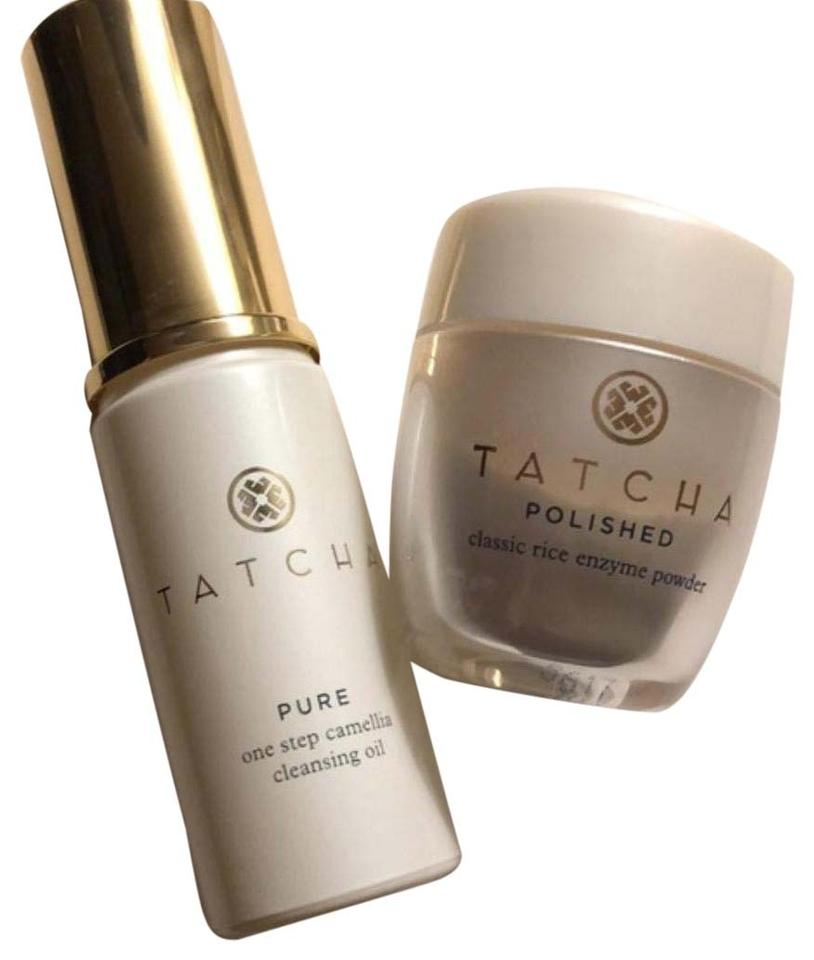 Tatcha Set with Rice Enzyme & Pure Cleaning Oil Mini Travel Sized 54% off  retail